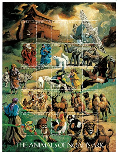 Bible Stories - The Animals of Noah's Ark - Limited Edition Collectors Stamps - Liberia ()