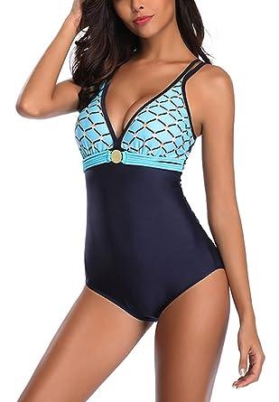 45d67804d0dc Stynice Mujer Trajes de una Pieza Push up Bañador Bikini Traje de BañO Pin  Up Halter Una Pieza Monokinis 2019