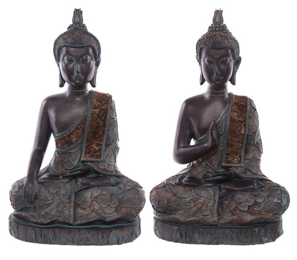 Puck`s Figura Decorativa de Buda Sentado con Traje Verde y ...