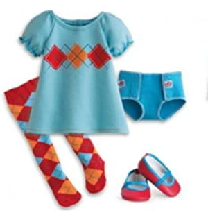Amazon.com: American Girl Bitty Baby Twins Red Argyle Outfit for ...