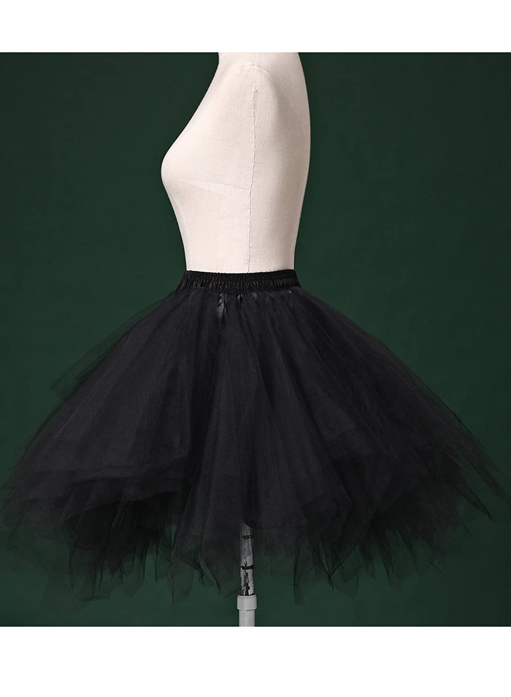 ae1685d0a2 Amazon.com: Kileyi Womens Tutu Costume Adult Party Dance Tulle Skirt Short  Fluffy Petticoat: Clothing
