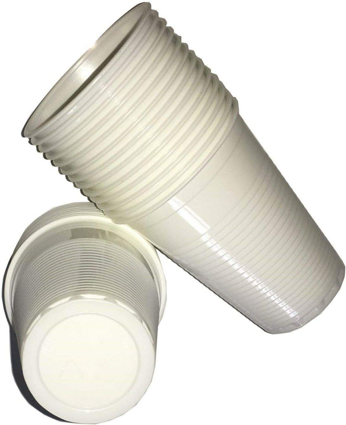 EliteKoopers 7oz desechables blanco tazas de plástico agua máquina expendedora de vidrio de beber