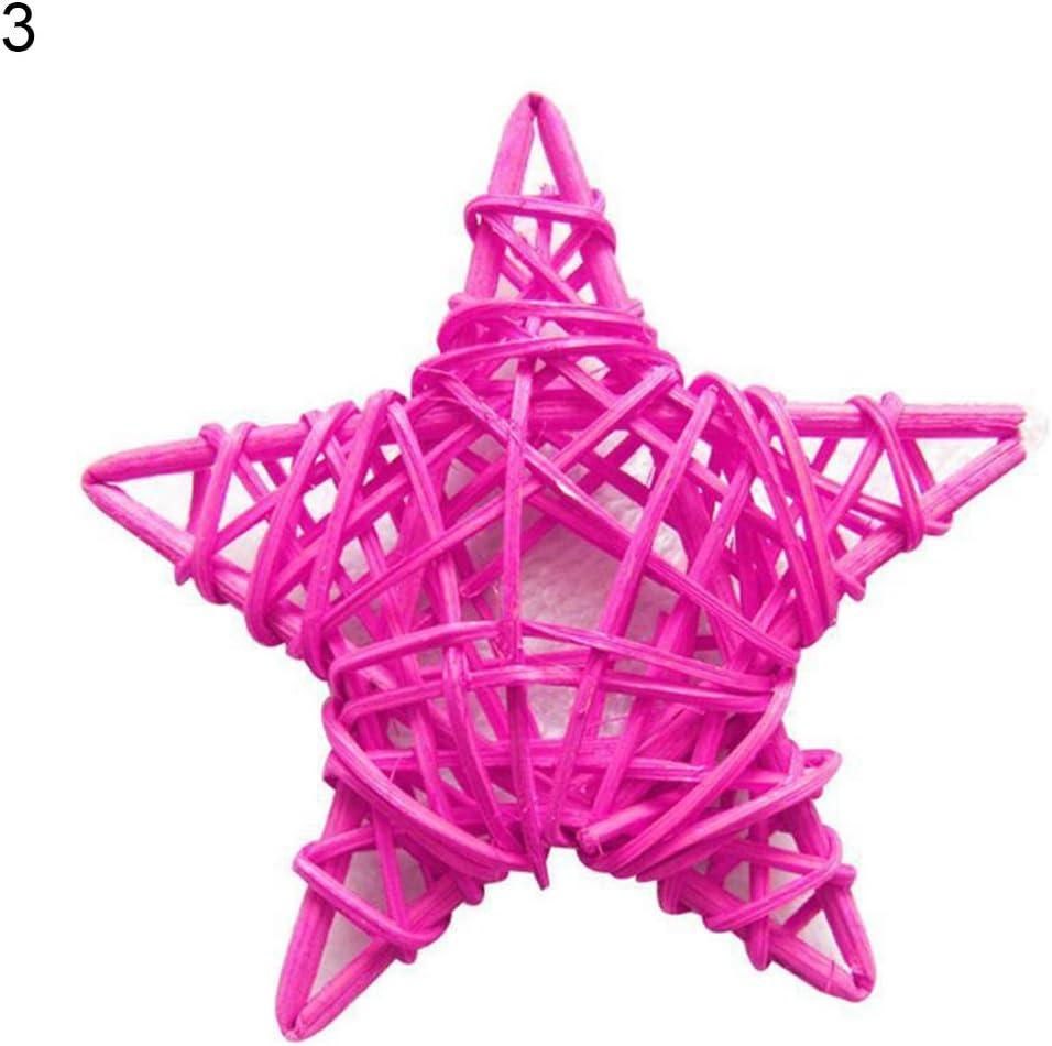 Qingsb 10/pcs en rotin /étoile Boule Sepak Takraw enfants Jouets Mariage F/ête danniversaire d/écors Red