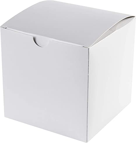 Amazon.com: Cajas de papel Kraft 4 x 4 x 4 en color blanco ...