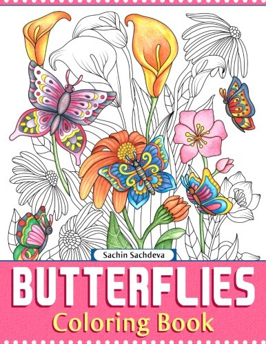 Butterflies: Coloring Book for Adults