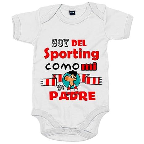 Body bebé soy del Sporting de Gijón como mi padre - Blanco ...