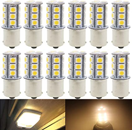 10x Amber 1156 P21W Ba15s 27 5050 SMD LED Brake Tail Turn Signal Light Bulb Lamp