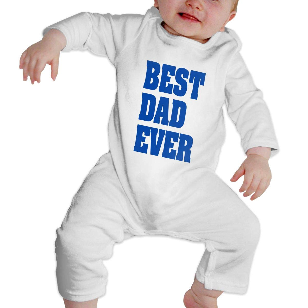 Unisex Baby Crew Neck Long Sleeve Pure Color Climbing Clothes Best Dad Ever Jumpsuit