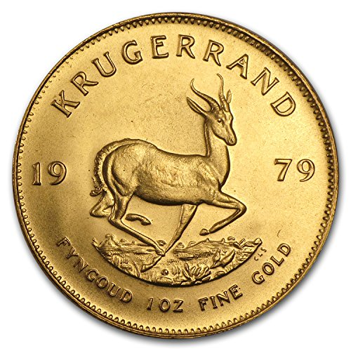 Krugerrand Gold Coins - 1979 ZA South Africa 1 oz Gold Krugerrand 1 OZ About Uncirculated