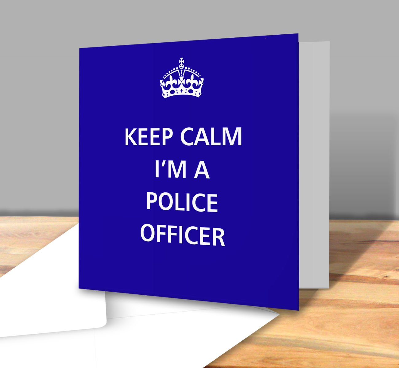 A5 Personalised Police Force New Job Greeting Card Refpidpol1