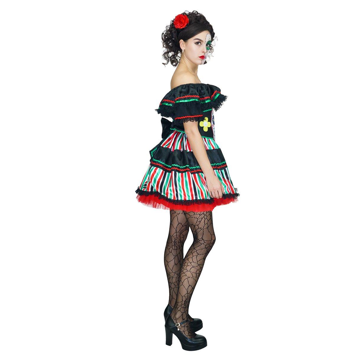Amazon.com: disfraz de Senorita para mujer, diseño de día de ...