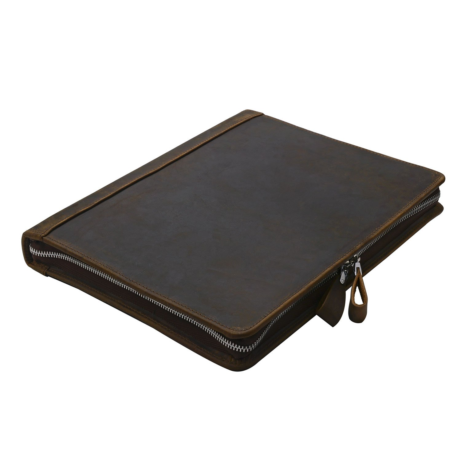 Rustic Leather Padfolio with 3-Ring Binder for Letter A4 Paper, 11-inch MacBook Air, Tan by iCarryAlls (Image #5)