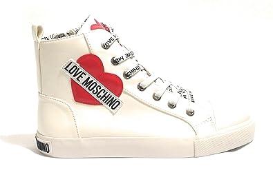 BiancoSchuheamp; Damen Sneaker Moschino Handtaschen Weiß 34ARLjc5Sq