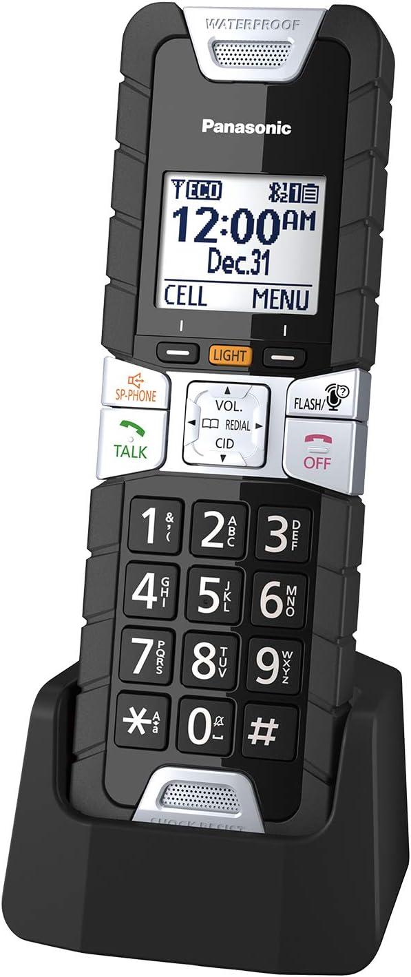 Panasonic Rugged Cordless Phone Handset Accessory Compatible with TGF54x/ TGF57x/ TGD53x/ TGD56x/ TGD51x/ TGF24x Series - KX-TGTA61B (Black)