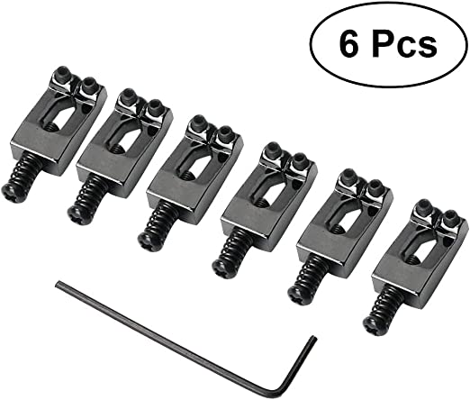 LIOOBO 6 pcs Narrow Bridge Guitar Saddles cuadradillo y Accesorios ...