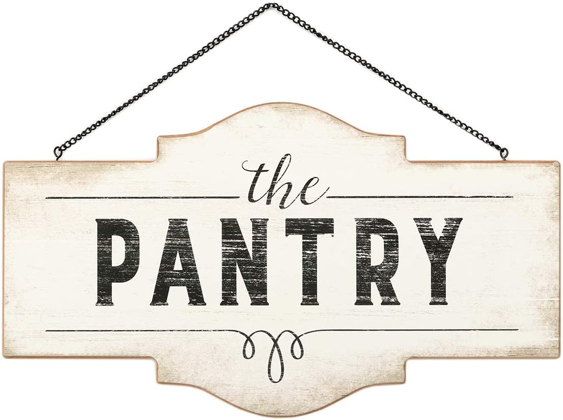 Open Road Brands - Vintage Retro Hanging Wall Sign - Wooden Pantry Sign - Perfect for Kitchens and Restaurants