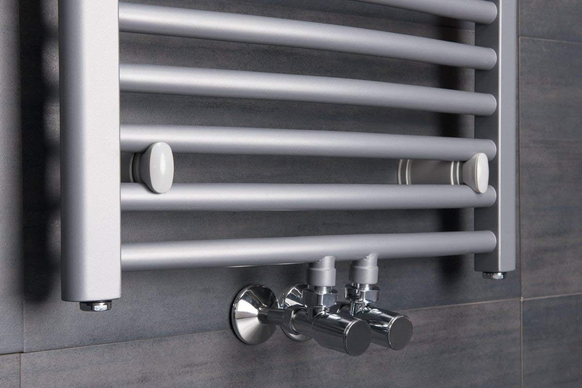 Argent W/ärmehaus /® S/èche-serviettes eau chaude Karlskrona Incurv/é 332 W Chauffage central 700 x 600 Radiateur salle de bain