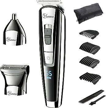 hatteker barbero Beard Kit cortapelos eléctrico hombre Depiladora y Afeitadora corporal BodyGroom 3 en 1: Amazon.es: Salud y cuidado personal