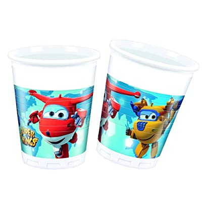 Procos–Package of 8Plastic Cups, with Super Wings (Travis Design 88385): Toys & Games