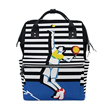Amazon.com : LALATOP Diaper Bag Backpack for mom Young Padel Tennis Player Larger Capacity Baby Nappy Bag Muti-Function Travel Backpack : Baby