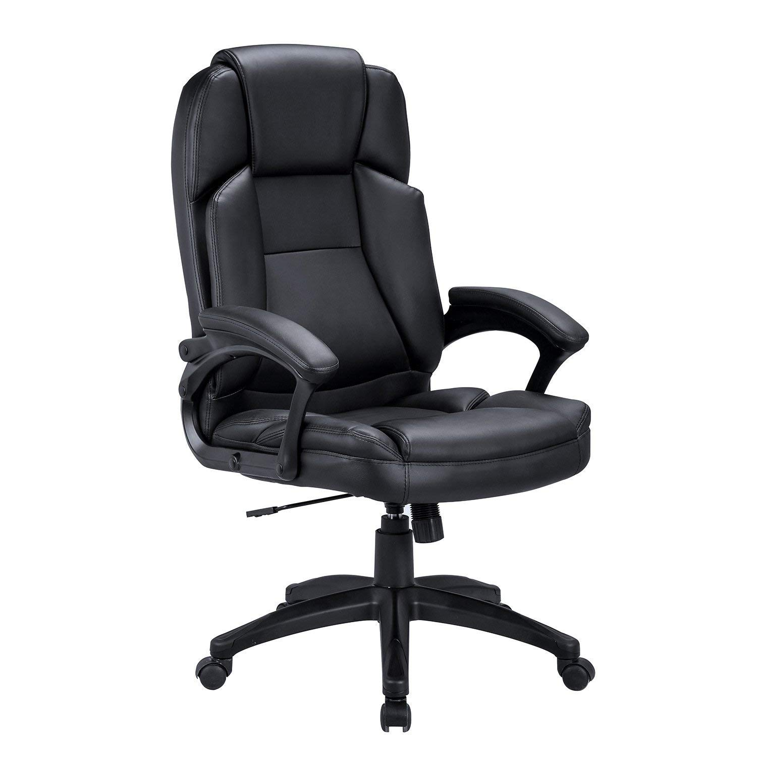 LCH High Back Executive Office Chair with Adjustable Tilt Angle - PU Leather Computer Desk Chair with Thick Padding for Comfort and Ergonomic Design for Lumbar Support