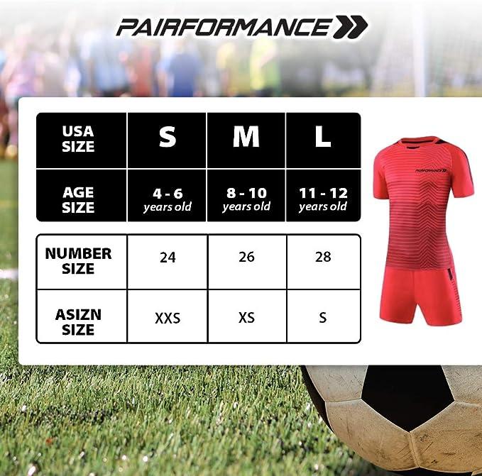 Amazon.com : PAIRFORMANCE Premium Boys Soccer Jerseys ...