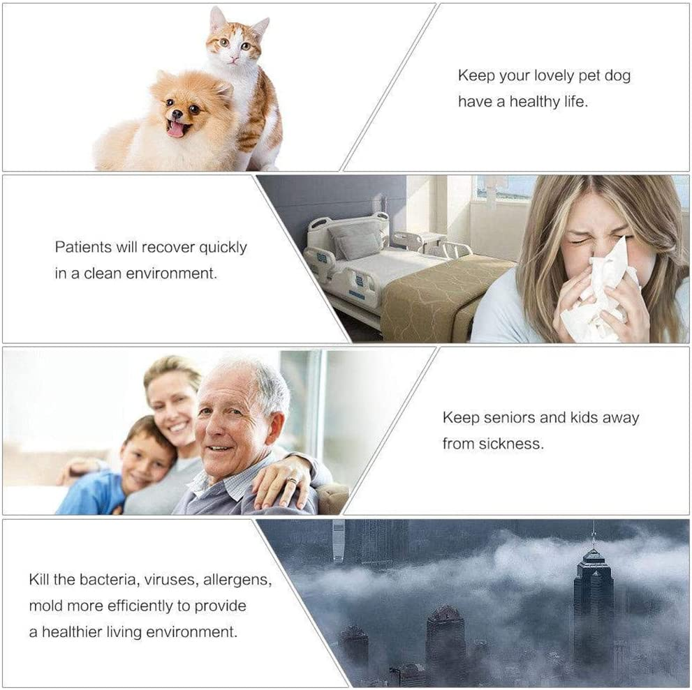 60W L/ámpara de desinfecci/ón UV Germicida Ozono Desodorizaci/ón Base de temporizaci/ón Luz ultravioleta redonda para dormitorio Cocina Sala de estar con control remoto