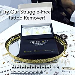 TribeTats Metallic Tattoo Armbands & Bracelets | Premium Henna-Inspired Body Art | No Scissors Required | Floral & Geometric Designs in Gold, Silver, Rose Gold and Black | Applies In A Flash