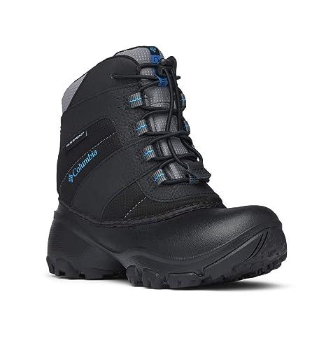 Columbia Youth Rope Tow I Waterproof Winter Boot (Little Kid/Big Kid), Black/Dark Compass, 2 M US Little Kid