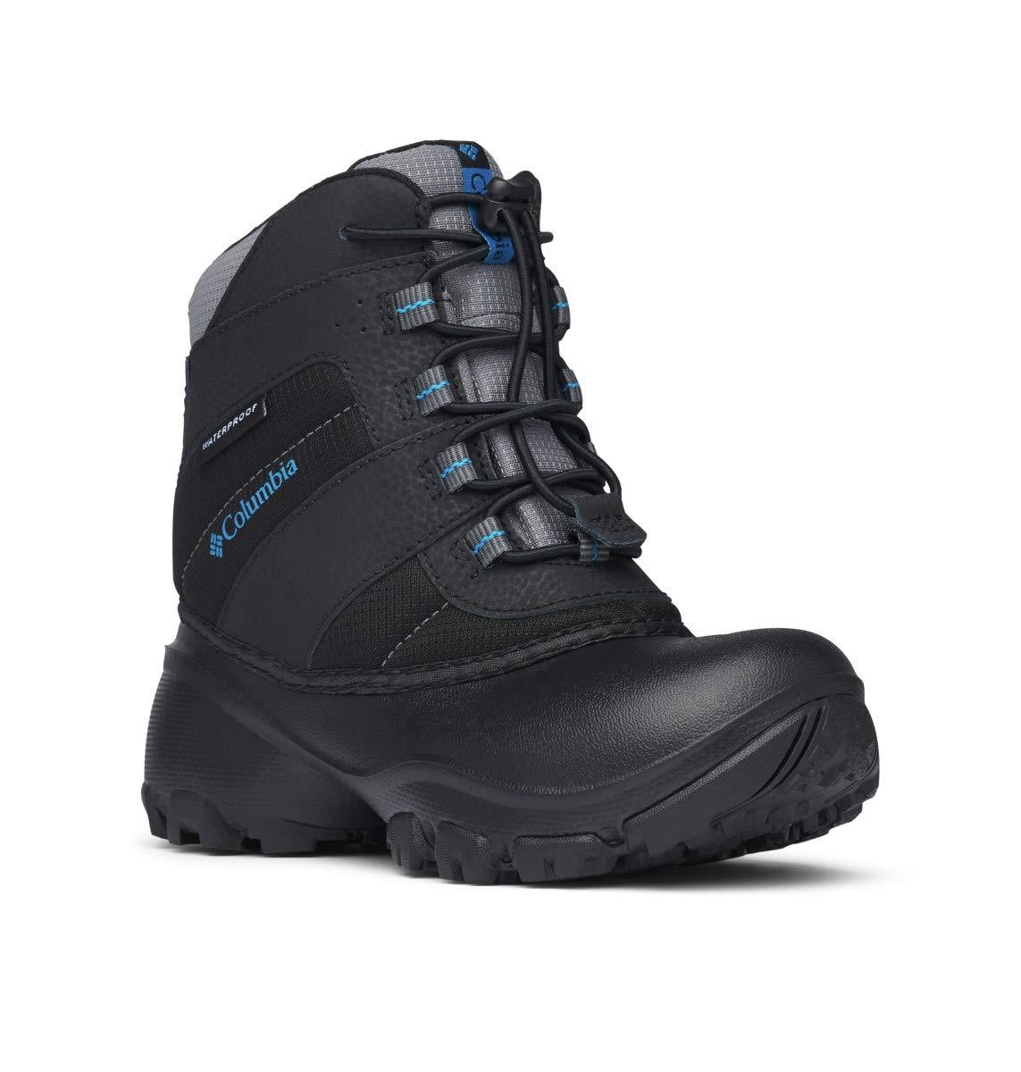 Columbia Youth Rope Tow I Waterproof Winter Boot (Little Kid/Big Kid), Black/Dark Compass, 3 M US Little Kid