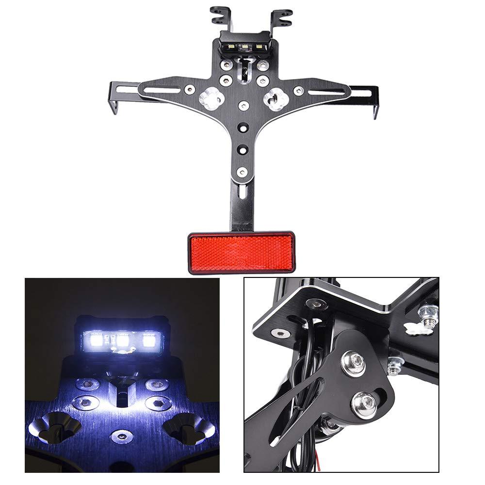 Motorrad CNC Aluminium Einstellbare Kennzeichenhalter Halterung f/ür 2014-2018 YAMAHA MT-07 MT 07 MT 07 2015 2016 2017