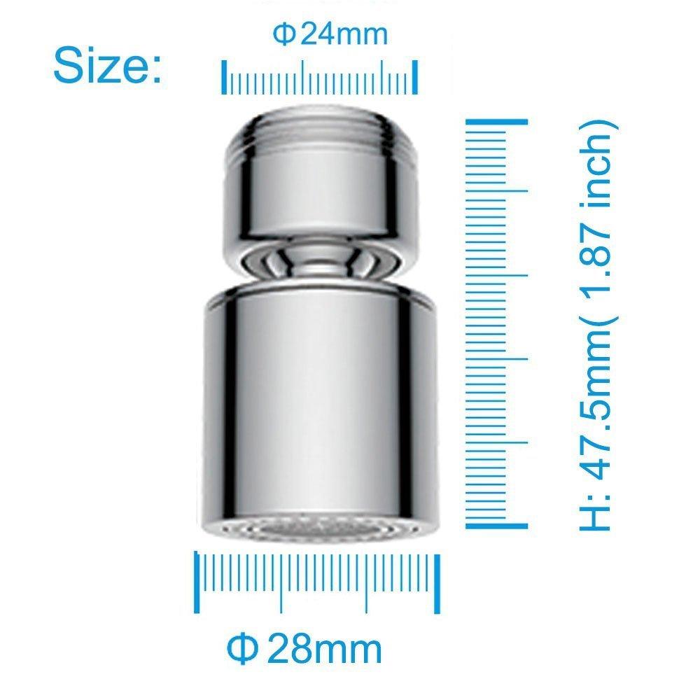 waterful tec307826/ 24//22/mm /aireador fregadero para ahorro de agua Enganche Hembra//Macho con adaptador con aireador orientable A DOS funciones