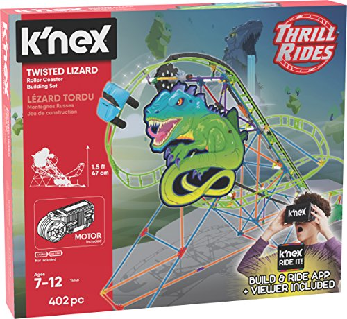 K'NEX Thrill Rides – Twisted Lizard Roller Coaster Building Set with Ride It! App – 403Piece – Ages 7-12 yrs Building Set (Amazon Exclusive) JungleDealsBlog.com
