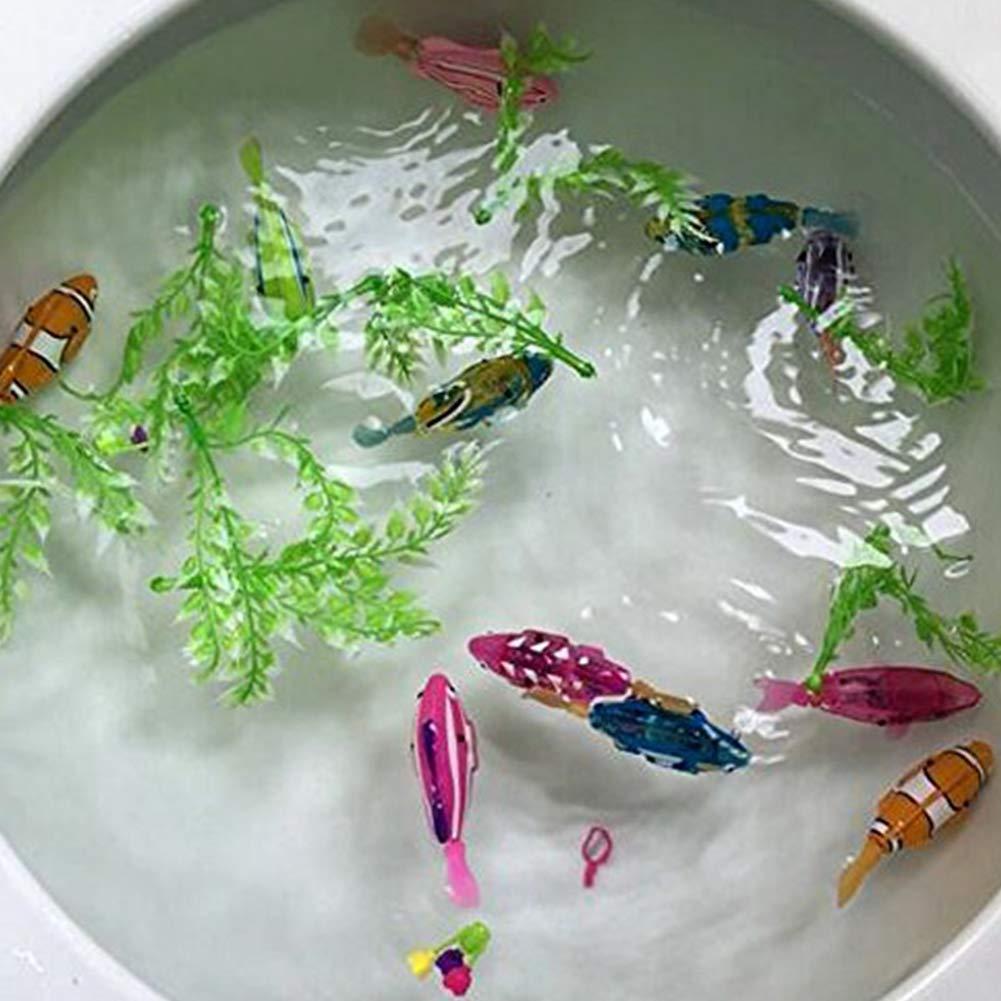 Naisicatar Piscina Robot Fish, Activado y Agua Mágico niños de Juguete electrónico de Regalo Infantil, Mini Realista robótico de Pescado, Pescado batería ...