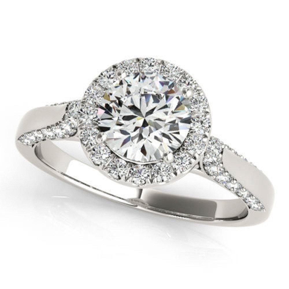 Lovely 0.92 ct J-K Moissanite Engagement wedding Ring 925 Sterling Silver