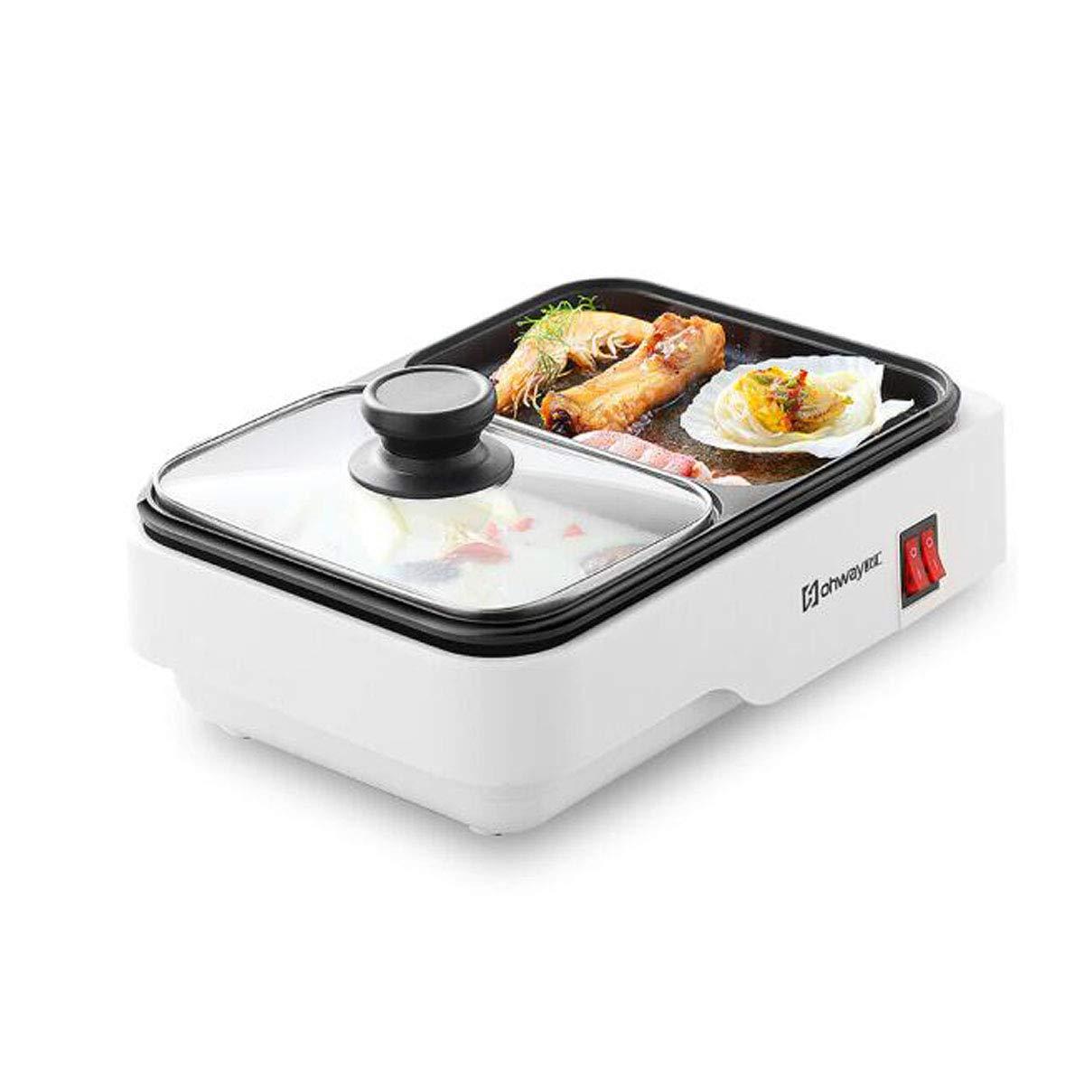 Wuhuizhenjingxiaobu001 電気フライパン、電気禁煙家庭用オーブン、電気鍋、家庭用ダイニング べたつかない (Color : White)  White B07SQV866B
