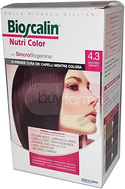 Bioscalin Nutri Color - Tinte permanente castaño dorado 4.3 ...