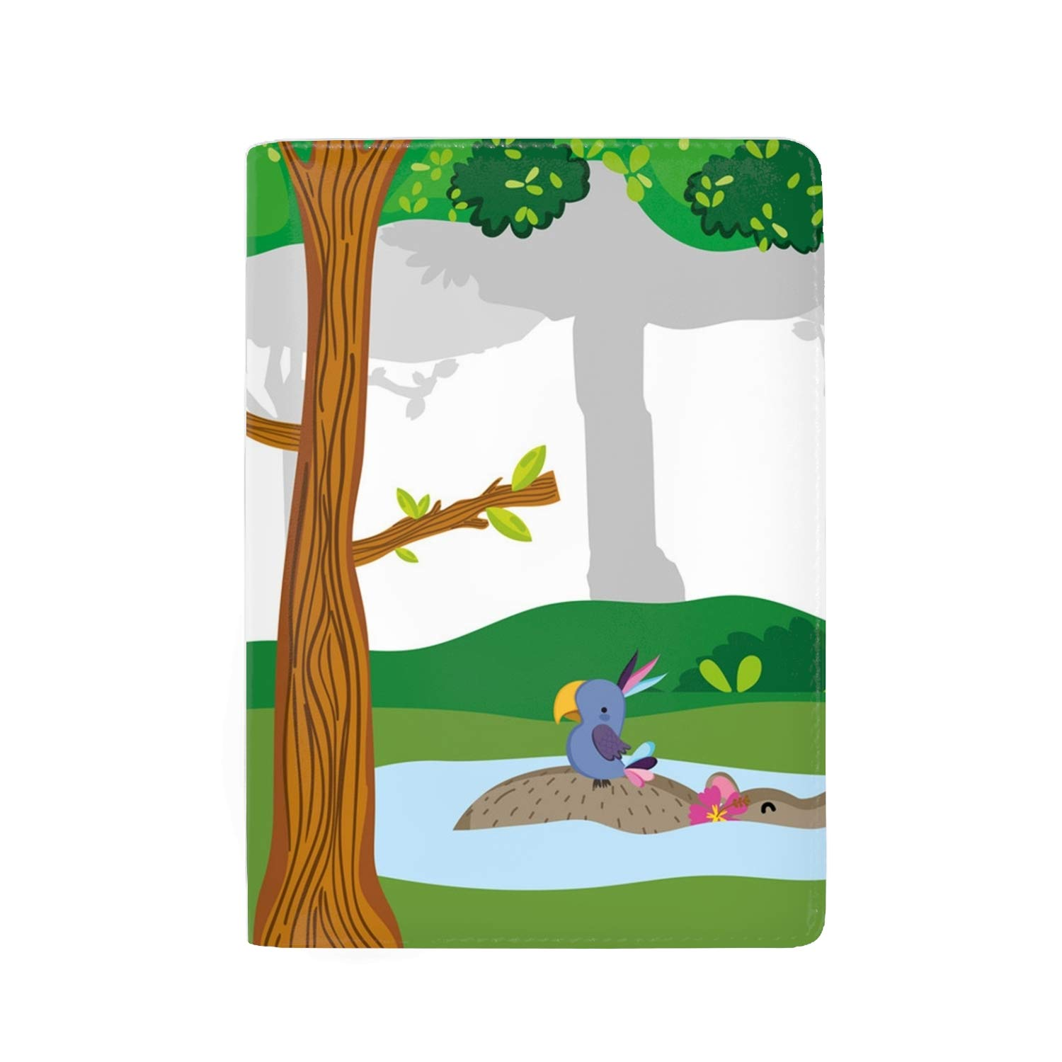 Cute And Shy Raccoon Wild Animal Passport Holder Travel Wallet RFID Blocking Leather Card Case Cover