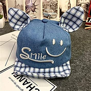 spring unique boys 6-12 month-old baby girl thin style child autumn cap  baby baseball hat cap men women tide (blue denim smile  Amazon.ca  Home    Kitchen 37c3351aedc