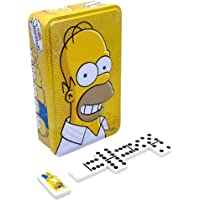 Novelty Dominó The Simpsons, Caja Metálica, 28 Fichas