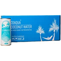 CoAqua Coconut Water - Case of 24 | 250mL cans.