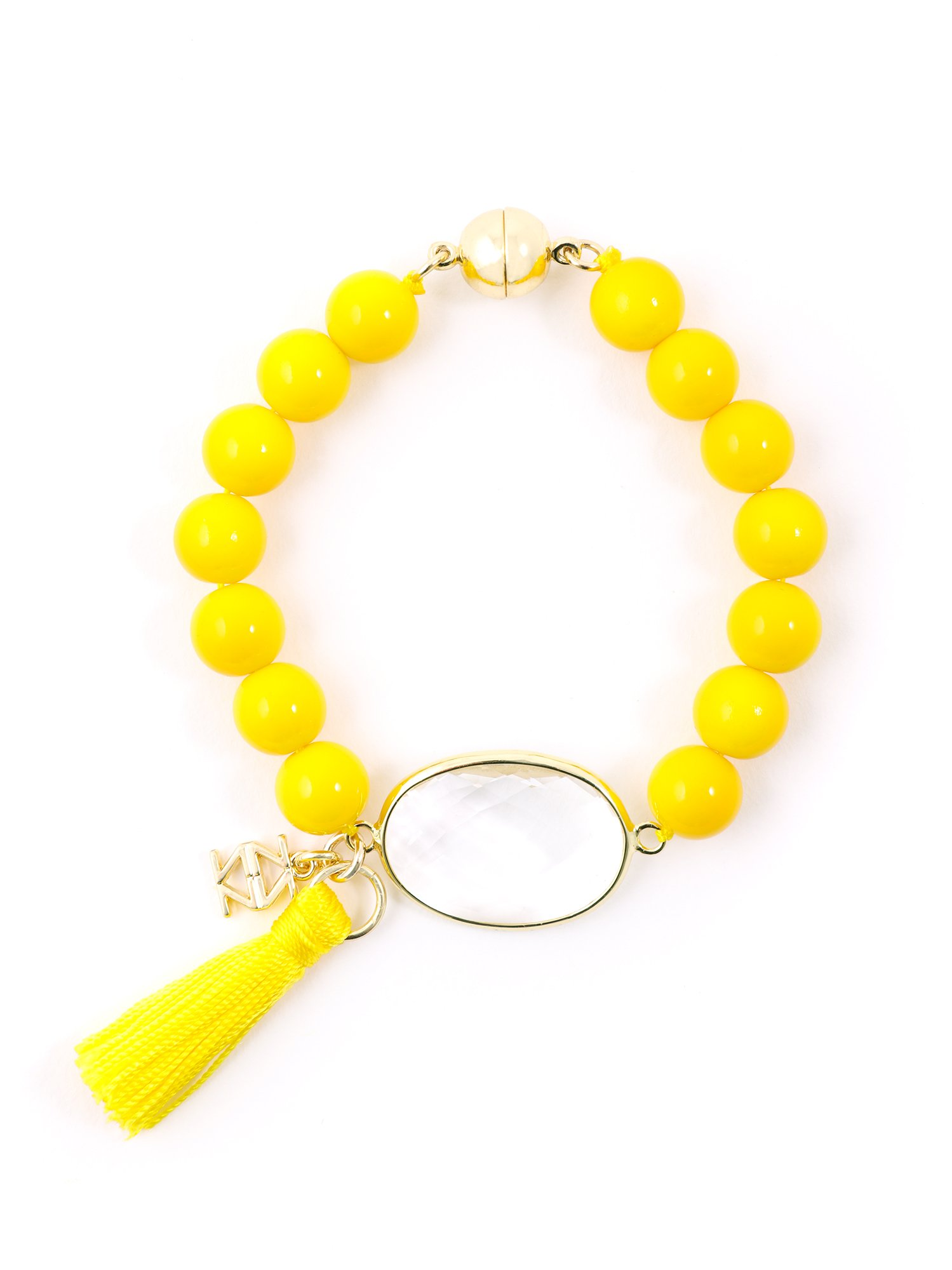 ZENZII Casual Friday Tassel Bracelet (Yellow)
