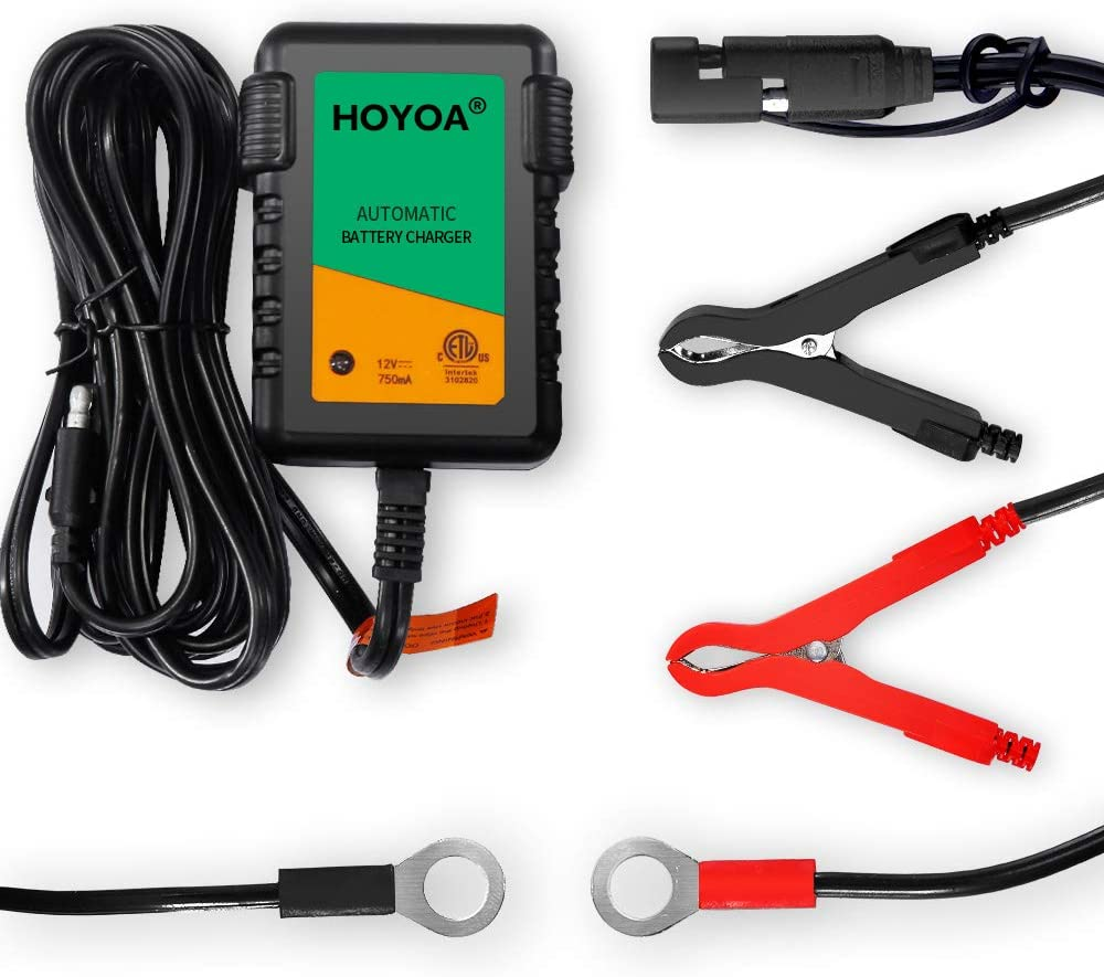 HOYOA 12v 750mA Trickle Battery Charger
