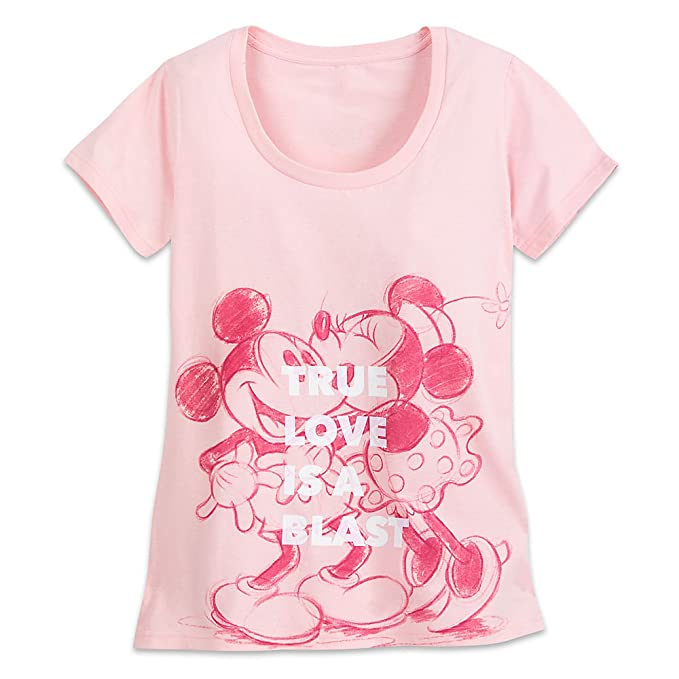 e445028bc Amazon.com: Disney Mickey and Minnie Mouse ''True Love'' T-Shirt for ...