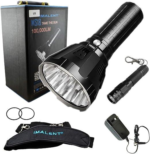 Amazon.com: Imalent MS18 - Linterna LED recargable con ...