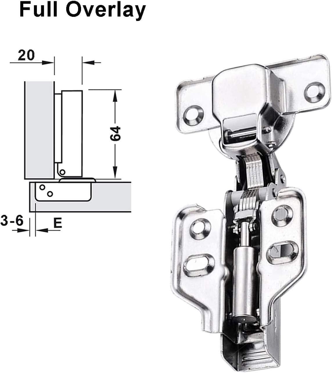 Scharnier K/üche Schrank T/ürscharniere Eckanschlag Standardscharnier mit Soft Close Automatikscharnier Integrierter D/ämpfung Scharniere 4 St/ück