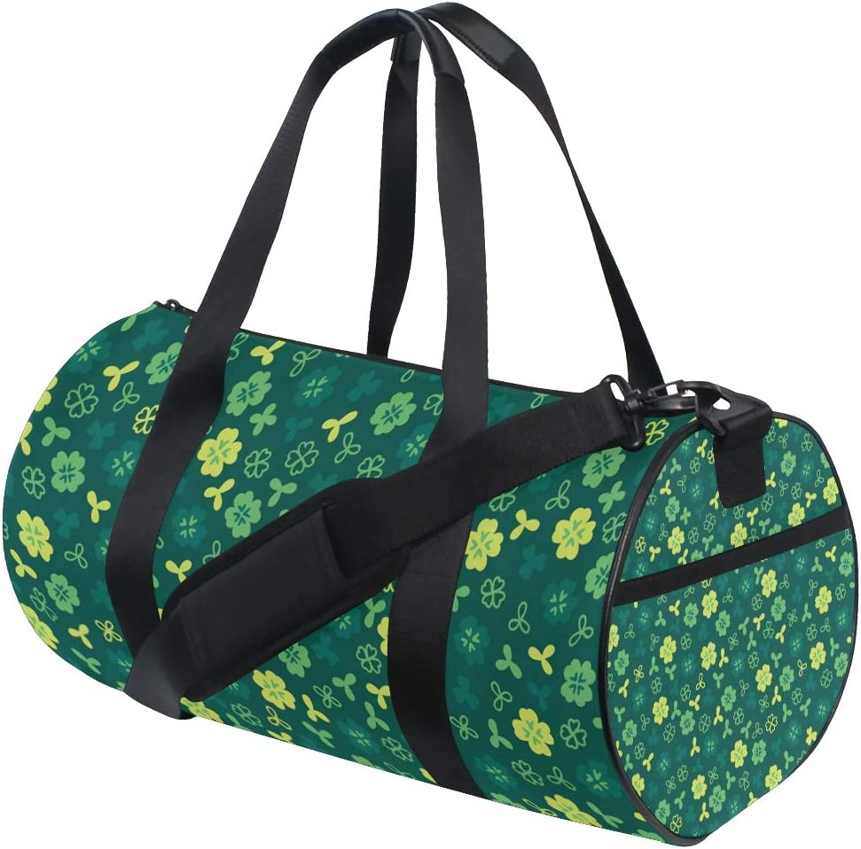 MALPLENA Lovable Shamrock Drum gym duffel bag women Travel Bag
