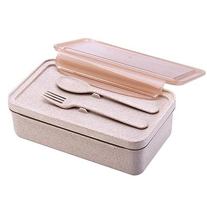 MDRW-Sola capa portátil caja de almuerzo, horno microondas Calefaccion, compartimento separación,