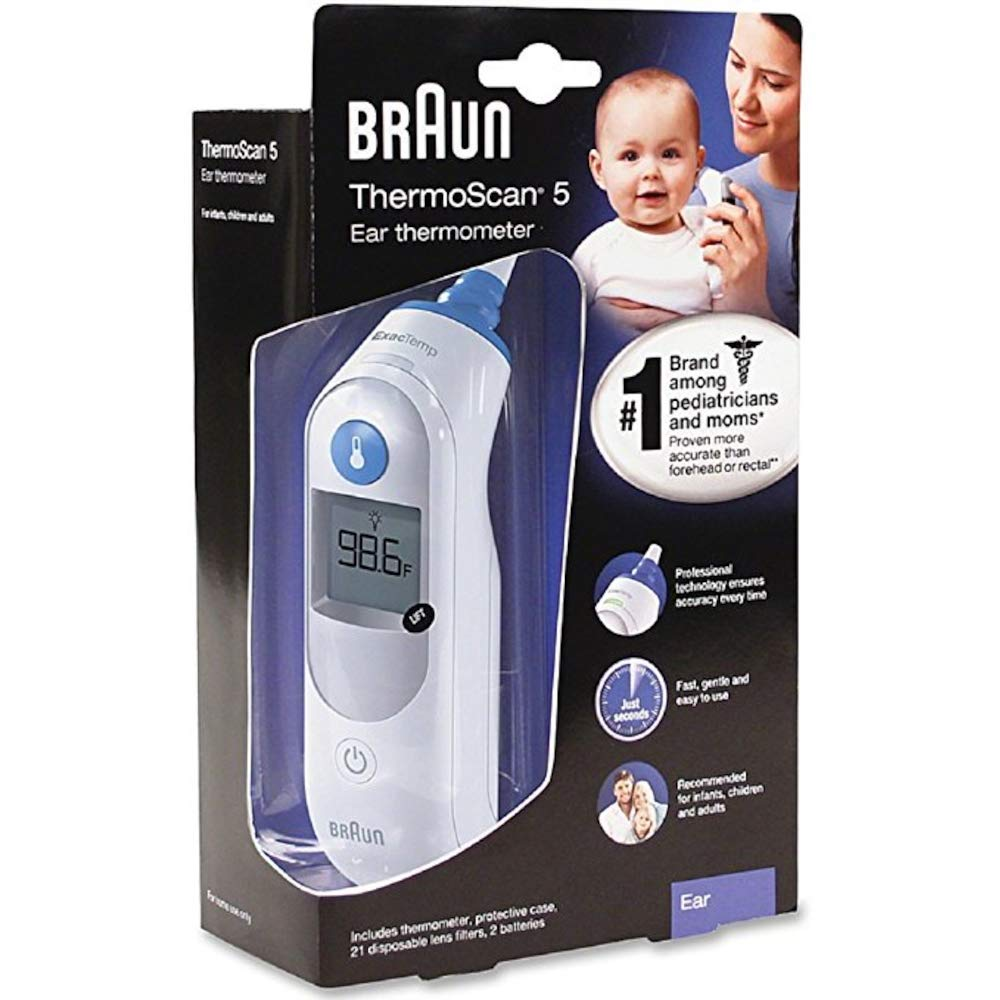 Braun Thermoscan 5 Ear Thermometer (IRT6500)