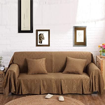 Amazon.com: SQINAA Jacquard Sofa Cover,Solid Couch Covers ...